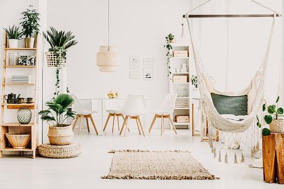 Esszimmer mit Pflanzen